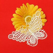 Vintage White Butterfly Lace Edge Trim Ribbon Applique Sewing Wedding Crafts NEW