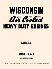 WISCONSIN VR4D Air Cool Heavy Duty Engine Parts Manual