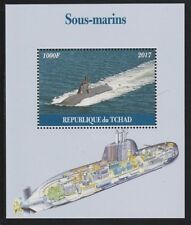 Chad 6724 - 2017 SUBMARINES  perf s/sheet  unmounted mint