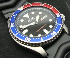 Vintage Seiko Divers Watch 7S26 Auto DD Mod Dial Negro Bisel Pepsi insertar J81.
