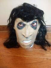 RARE GHOUL HALLOWEEN MASK BLACK HAIR - DON POST STUDIOS