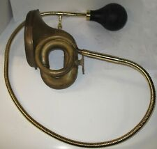 MODEL T FORD 1909-12 RUBES BRASS BULB HORN COMPLETE WITH TUBING & BULB