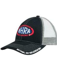 N.H.R.A. MESH HAT BLACK / GRAY MESH CAP ADJUSTABLE BACK NHRA NEW