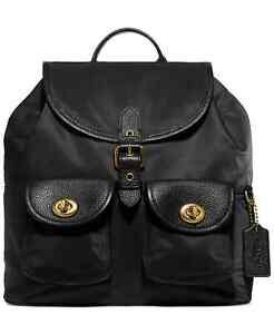 Coach Nylon Cargo Backpack - Black - $300