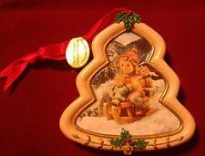 "Hummel Christmas Ornament Danbury Mint Tree Shaped ""Christmas Delivery"""