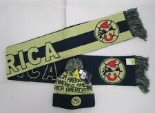 Unisex Aguilas Del America Scarf & Beanie Soccer Set Kit, New Liga MX Official