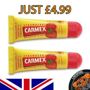 CARMEX Moisturising Lip Balm Care SPF15 Tube Strawberry Dry&Chapped Lips 2X=4.99