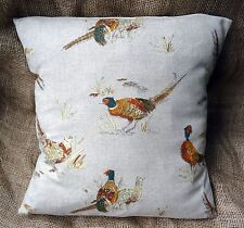 "Fryetts' Country Pheasant Cotton Fabric Cushion Cover 16"" x 16"""