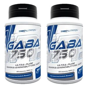 TREC Gaba 750 120 Caps (2x60) IMPROVES MOOD SLEEP RELAXATION GH PRODUCTION