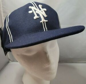 NWT New York Cubans Negro League Baseball museum fitted cap size 6 7/8th Blue