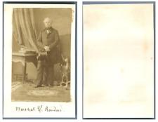 Disdéri, Maréchal Comte Randon CDV vintage albumen, format carte de visite recol