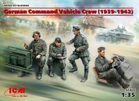 German Command Vehicle Crew (1939-1942) (4 figures)  1/35 ICM 35644