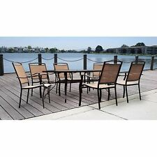 7 Piece Patio Dining Set Outdoor Furniture Garden Table Chairs Backyard Deck New