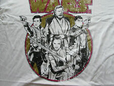 More details for star wars 'the last jedi'  xxl white t-shirt - pre-faded image -official merchan
