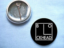 Blockheads 25mm Badge Ian Dury Gene Vincent The Clash Blockhead Dr Feelgood