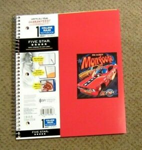 """TOM MCEWEN Snake and Mongoose Lined Notebook 100 Pages 8 1/2"""" X 11"""""""