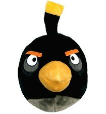 """Rovio Angry Birds Black Bird 14"""" Plush Backpack Tote-Licensed Product-New!"""