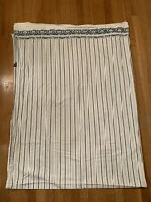 Ralph Lauren Jonquil Blue White Stripe Full Flat Sheet Porcelain Nanking