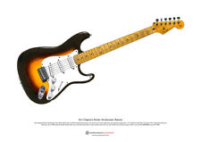 Eric Clapton's Fender Stratocaster 'Brownie' ART POSTER A3 size