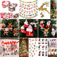 Christmas Santa Ornaments Decor Festival Party Xmas Tree Hanging Decoration Home