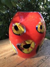 Hand blown murano art glass with eyes design With Certificate