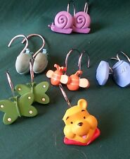 BB01   Eleven Shower Curtain Hooks - Whinny the Pooh