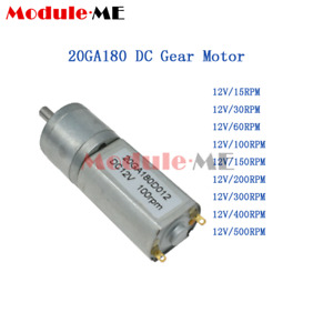 DC 12V Micro Speed Reduction Gear Motor Metal Gearbox Wheel Shaft 30/60/100RPM