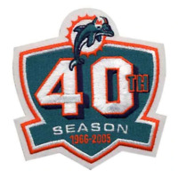 Miami Dolphins 40th Season Anniversary Jersey Patch (2005)