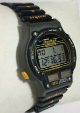 Women Timex Ironman Triathlon Watch Black Indiglo 8 Lap Chrono Orange Acc Vintag