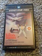 Legend Of 7 Golden Vampires - Warner Hammer Big Box Pre Cert VHS