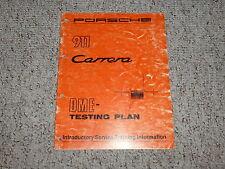 1984 Porsche 911 Carrera DME Testing Plan Shop Service Repair Manual 1985 1986