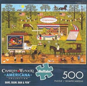 Charles Wysocki 500 Pc Buffalo Games Jigsaw Bang,Boom.Bam & Pow NIB