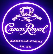 Crown Royal Whisky LED Sign Personalized, Home bar pub Sign, Lighted Sign