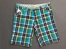 Roxy Shorts Size 3 Blue Green Plaid Board Beach Outdoor Shorts