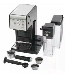 BREVILLE Coffee House One-Touch VCF107 Coffee Machine Black & Chrome