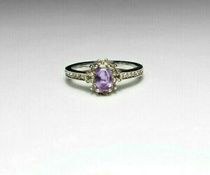 Stainless Steel ring, Amethyst gemstone, Austrian Crystals, choose size