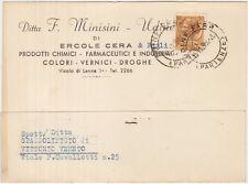 UDINE - PRODOTTI CHIMICI FARMACEUTICI E INDUSTRIALI - F.MINISINI 1960