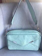 REBECCA MINKOFF Irish Seafoam Zip Multi Pockets Organiser Clutch Shoulder Bag