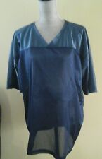 NEW W/ TAGS AMERICAN APPAREL UNISEX FOOTBAL JERSEY TOP BLUE MESH SIZE L
