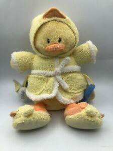 Baby Gund Little Quack Ups 58184 Yellow Duck Robe Plush Stuffed Toy Animal