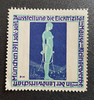 Cinderella Poster Stamp Germany Exhibition the electricity Munich 1911 (7587)