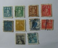 Lote de10 antiguos sellos   Consejo tuberculosis Usados