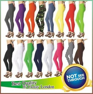 Women's Cotton Leggings Full Length Plus Sizes 4 6 8 10 12 14 16 18 20 22