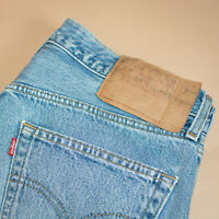 Vintage Levi 501 Jeans Blue Straight Button Fly Unisex (PatchW34L34) W 33 L 33