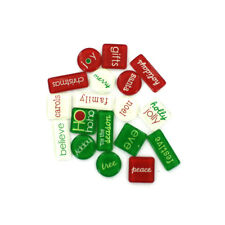 36 Christmas  Expressions  Acrylic Tiles (2 packs of 18) New