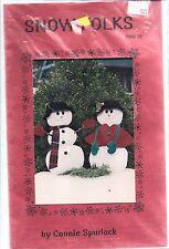 Vintage Craft Sewing Pattern Sew Wonderful Dreams Snow Folk Snowman Spurlock