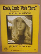 song sheet KNOCK KNOCK WHO S THERE Mary Hopkin 1970 Eurovision
