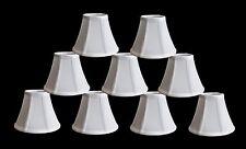 "Urbanest Chandelier Mini Lamp Shades,5"",Bell Silk White w/ Double Trim,Set of 9"