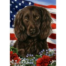 Patriotic (1) House Flag - Boykin Spaniel 16462