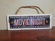 Movie Night Wood Wall Decor